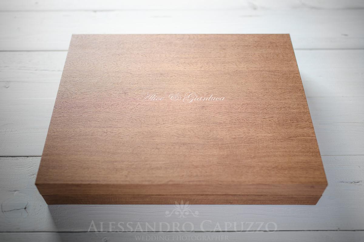 Fotolibro matrimonio youngbook cofanetto legno acero
