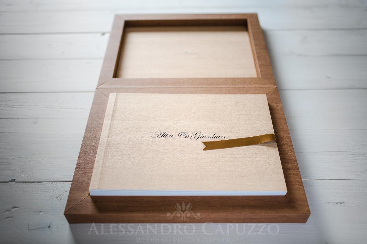 Fotolibro matrimonio youngbook cofanetto legno acero 021