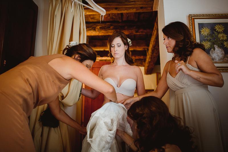 Getting Ready matrimonio Villa Pollini Luvigliano Torreglia