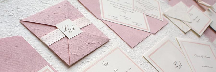 Carta cotone per le partecipazioni di matrimonio