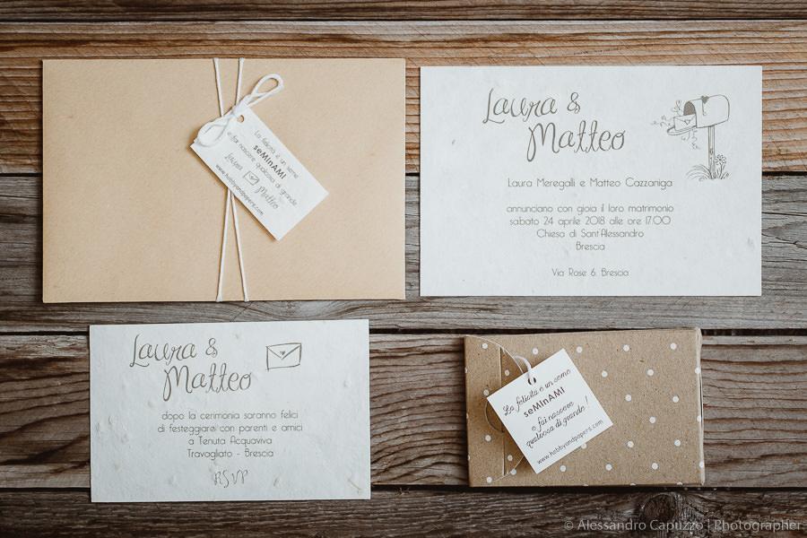 Le partecipazioni di matrimonio in carta cotone più belle
