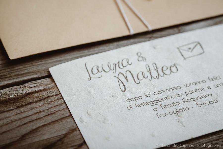 270a99039f26 Partecipazioni matrimonio in carta cotone fai da te