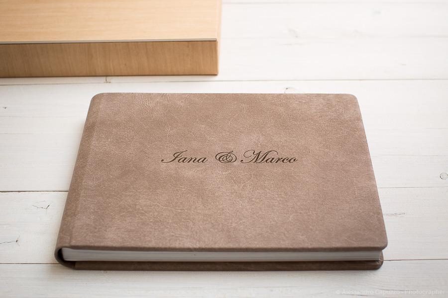 fotolibro pelle sequoia matrimonio venezia