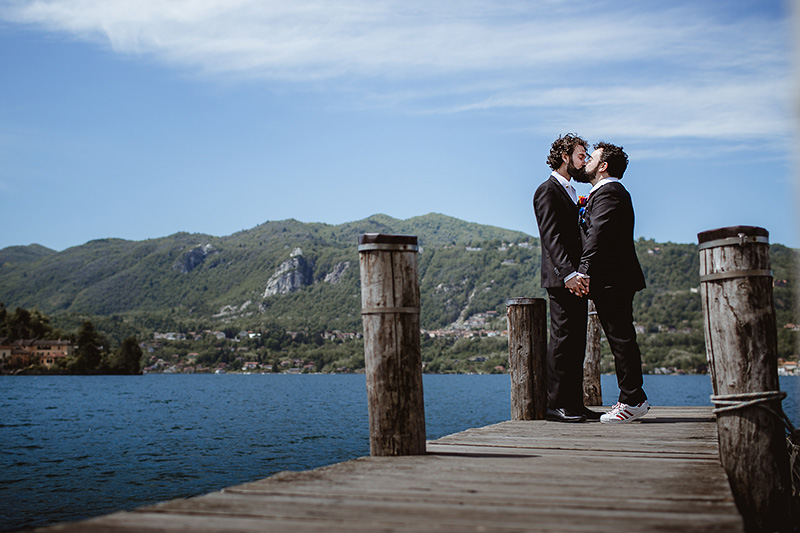 same-sex Wedding at Lake Orta - Tiziano&Luca