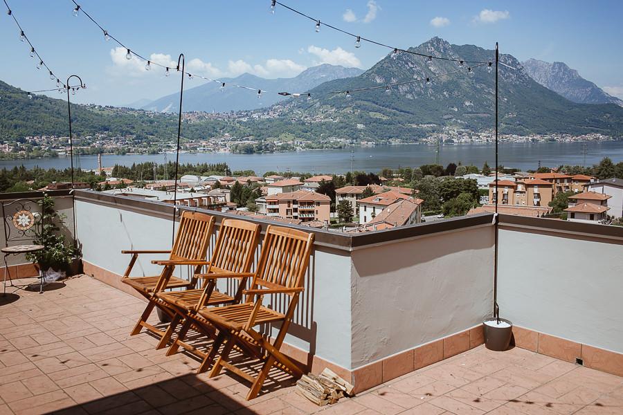 Vista terrazza lago di Como