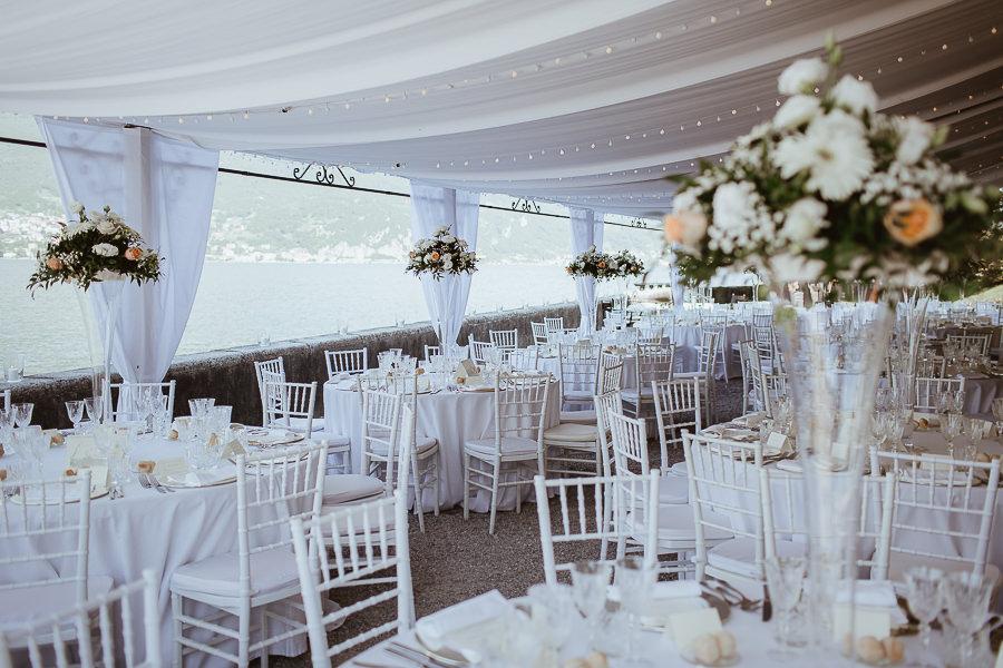 Allestimenti matrimonio Villa Aura del Lago di Como