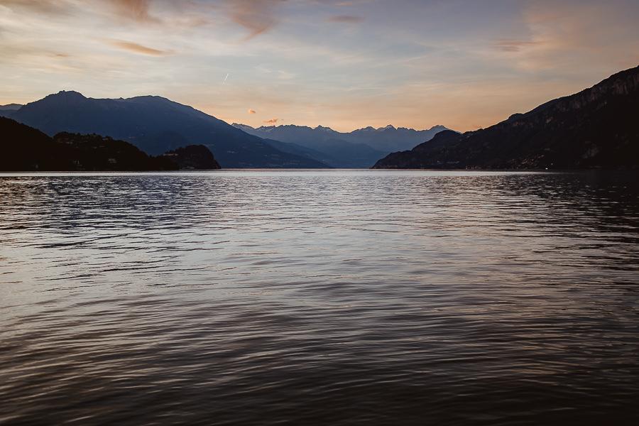 tramonto sul lago di Como - Matrimonio