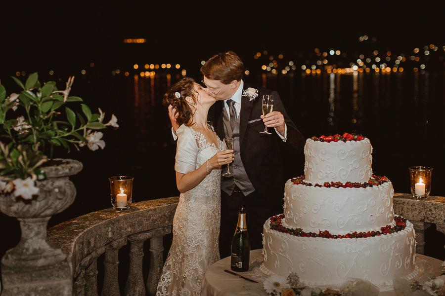 torta nuziale - matrimonio Villa Aura del Lago